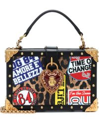 Lyst - Dolce   Gabbana Heart And Wings Patch Crossbody Bag in Black 15a56dcb4a219