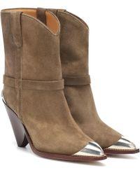 Isabel Marant - Ankle Boots Lamsy aus Veloursleder - Lyst
