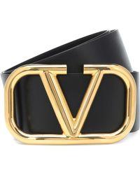 Valentino - Vlogo Leather Belt - Lyst