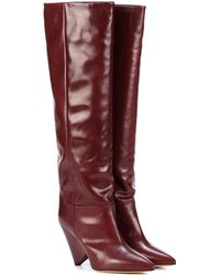 Isabel Marant - Lokyo Leather Knee-high Boots - Lyst