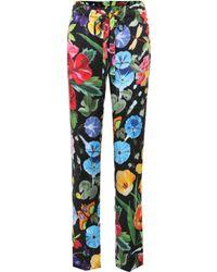 Gucci - Printed Silk Pyjama Trousers - Lyst