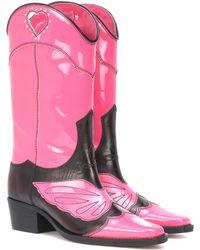 Ganni - Marlyn Leather Cowboy Boots - Lyst