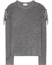RED Valentino - Metallic Lamé Sweater - Lyst