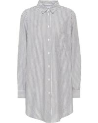 Asceno - Boyfriend Striped Cotton Shirt - Lyst