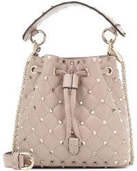 Valentino - Garavani Candystud Leather Bucket Bag - Lyst