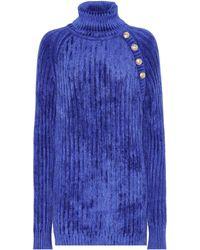 Balmain - Ribbed Turtleneck Sweater - Lyst 3f1777dd2