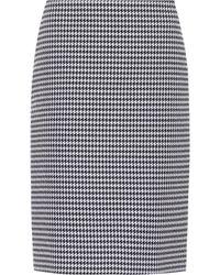 Balenciaga - Houndstooth Wool And Silk Skirt - Lyst