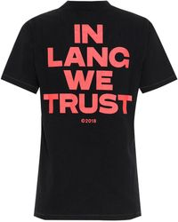 Helmut Lang - Printed Cotton T-shirt - Lyst