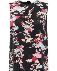Diane von Furstenberg - Top sans manches en soie imprimée - Lyst a170e9a84d4