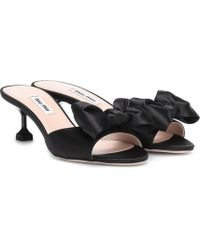 Miu Miu - Satin Sandals - Lyst