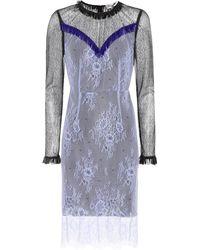 194e7499f6aff Diane von Furstenberg - Embellished Lace Dress - Lyst