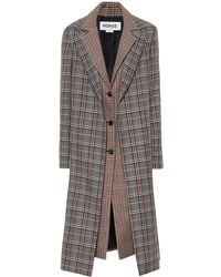 Monse - Checked Wool-blend Coat - Lyst