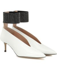 Christopher Kane - Embellished Patent Leather Court Shoes - Lyst