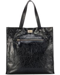 Valentino - Leather Shopper - Lyst