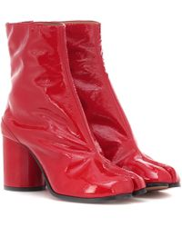 Maison Margiela - Tabi Patent Leather Ankle Boots - Lyst
