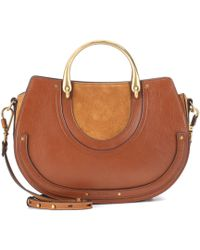 Chloé - Pixie Medium Leather And Suede Shoulder Bag - Lyst