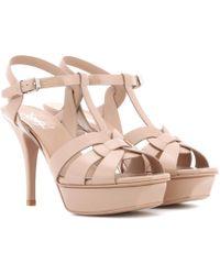 Saint Laurent - Tribute 75 Patent Leather Sandals - Lyst