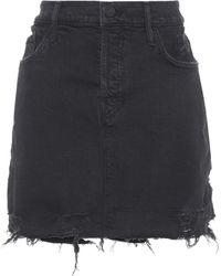 Mother - Vagabond Mini Fray Denim Skirt - Lyst