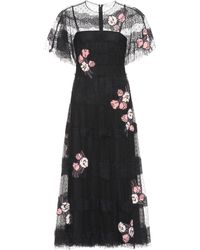 RED Valentino - Floral Lace Dress - Lyst