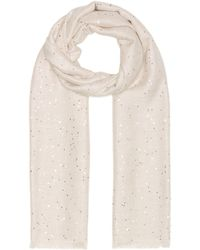 Brunello Cucinelli - Sequined Silk And Cashmere Scarf - Lyst