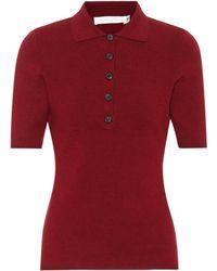Victoria Beckham - Pull à manches courtes en laine mélangée - Lyst
