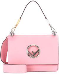 Fendi - Exclusive To Mytheresa. Com – Kan I F Leather Shoulder Bag - Lyst
