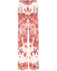 Roberto Cavalli - Printed Silk Trousers - Lyst