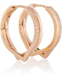 Repossi - Antifer Pink Gold And Diamond Earrings - Lyst