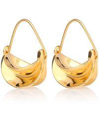 Anissa Kermiche - Mini Paniers Dorés 18kt Gold-plated Earrings - Lyst