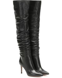 Gianvito Rossi Valeria 85 Over-the-knee Leather Boots - Black