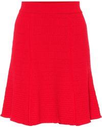 KENZO - Knitted Miniskirt - Lyst