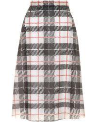 ae5a287f18 Burberry Brit High Waisted Denim Skirt in Black - Lyst