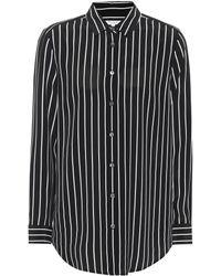 Equipment - Essential Pinstriped Silk Shirt - Lyst