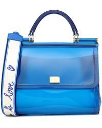 24694836e0 Dolce   Gabbana Transparent Sicily Shoulder Bag in Blue - Lyst