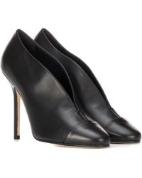 Victoria Beckham - Refined Pin Leather Court Shoes - Lyst