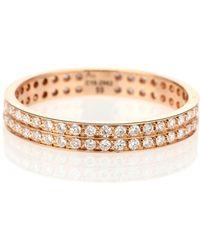 Repossi - Ring Berbere aus 18kt Roségold mit weißen Diamanten - Lyst