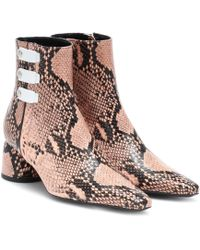 Ellery - Printed Leather Ankle Boots - Lyst