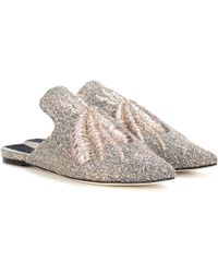 Sanayi 313 - Ragno Embroidered Slippers - Lyst