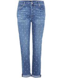 7 For All Mankind - Josefina Printed Boyfriend Jeans - Lyst