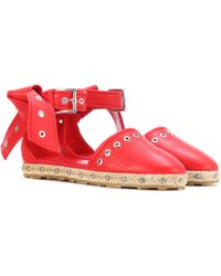 Alexander McQueen - Embellished Leather Espadrilles - Lyst