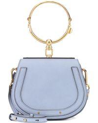 dc64f6ef1e7c Chloé - Small Nile Leather Bracelet Bag - Lyst