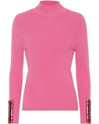 Delpozo - Verzierter Pullover aus Wolle - Lyst