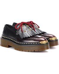 Burberry - Leather Platform Brogues - Lyst