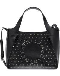 Stella McCartney - Stella Logo Studded Crossbody Bag - Lyst