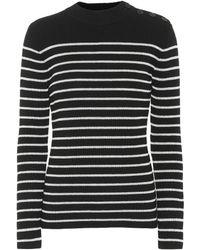 Saint Laurent - Striped Wool-blend Sweater - Lyst