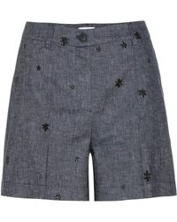 Tomas Maier - Embroidered Denim Shorts - Lyst
