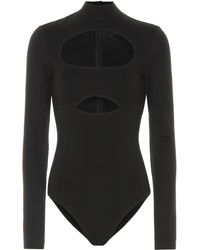 David Koma Cut-out Cotton Bodysuit - Black