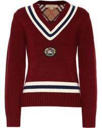 Burberry - Pull en laine et cachemire - Lyst