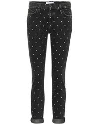 Current/Elliott - Jeans skinny The Easy Stiletto a pois - Lyst