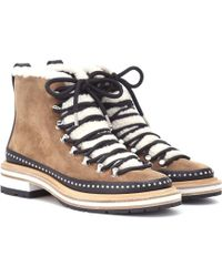 Rag & Bone - Compass Shearling-trimmed Ankle Boots - Lyst